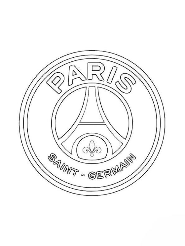 Print Paris Saint germain kleurplaat