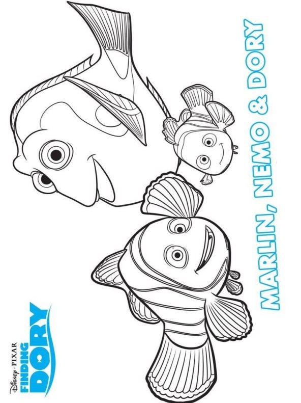 Kleurplaten En Zo Kleurplaat Van Marlin Nemo Dory