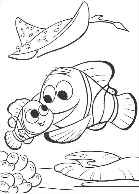 Kleurplaten En Zo Kleurplaten Van Finding Nemo De Film