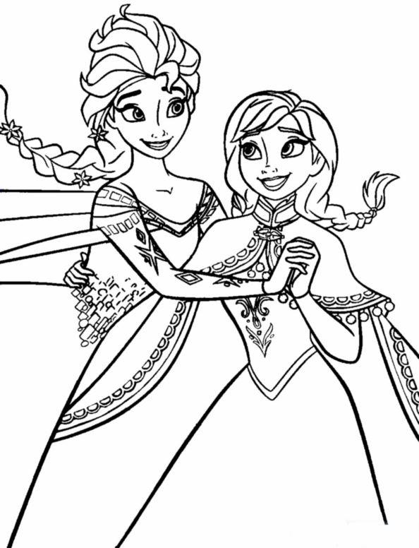 Kleurplaten Elsa Anna.Kleurplaten En Zo Kleurplaten Van Frozen Anna En Elsa