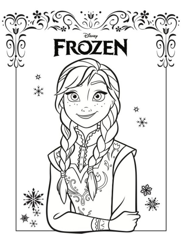 Kleurplaten Elsa Anna.Kleurplaten En Zo Kleurplaat Van Anna Frozen