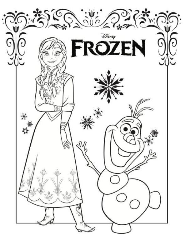 Kleurplaten En Zo Kleurplaten Van Frozen Anna En Elsa