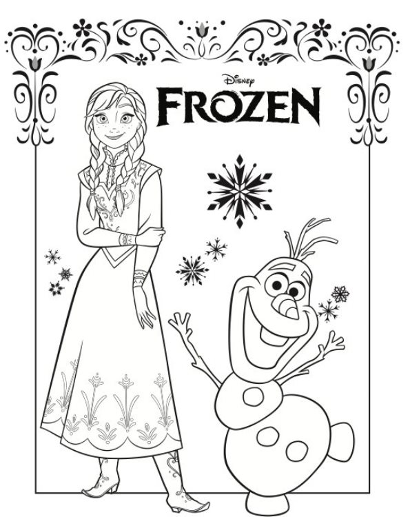 Kleurplaten Frozen Anna En Elsa.Kleurplaten En Zo Kleurplaten Van Frozen Anna En Elsa