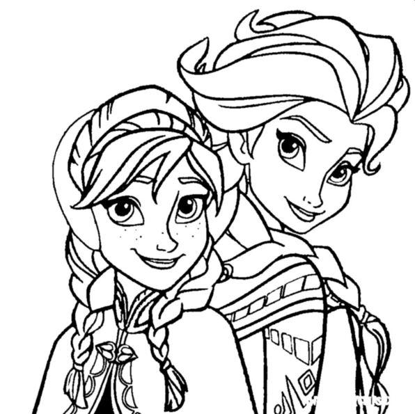 Kleurplaten Elsa Van Frozen.Kleurplaten En Zo Kleurplaat Van Elsa Anna Frozen