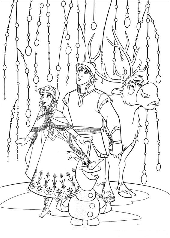 kids christmas coloring pages frozen - photo#17