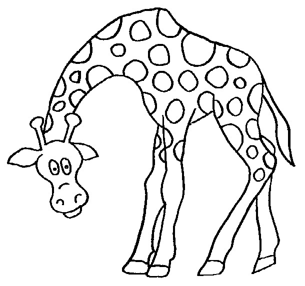 Kleurplaten Giraffen En Olifanten.Giraf Kleurplaat