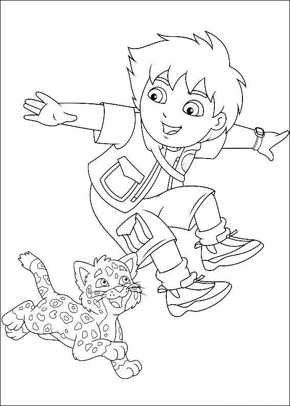Kleurplaten En Zo Kleurplaat Van Diego En Baby Luipaard