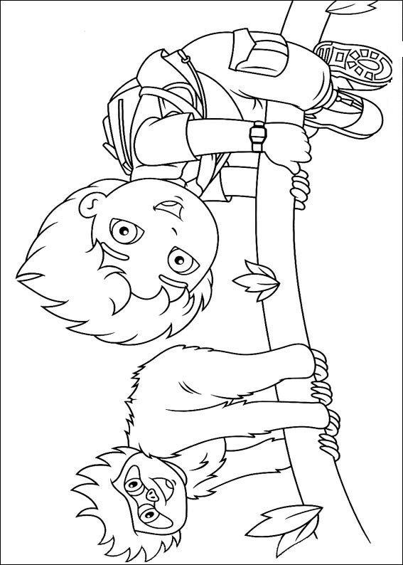 Kleurplaten En Zo Kleurplaat Van Diego Speelt Luipaard