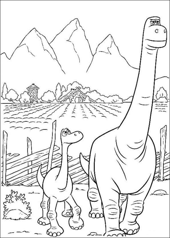 Kleurplaten En Zo 187 Kleurplaten Van De Goede Dinosaurus