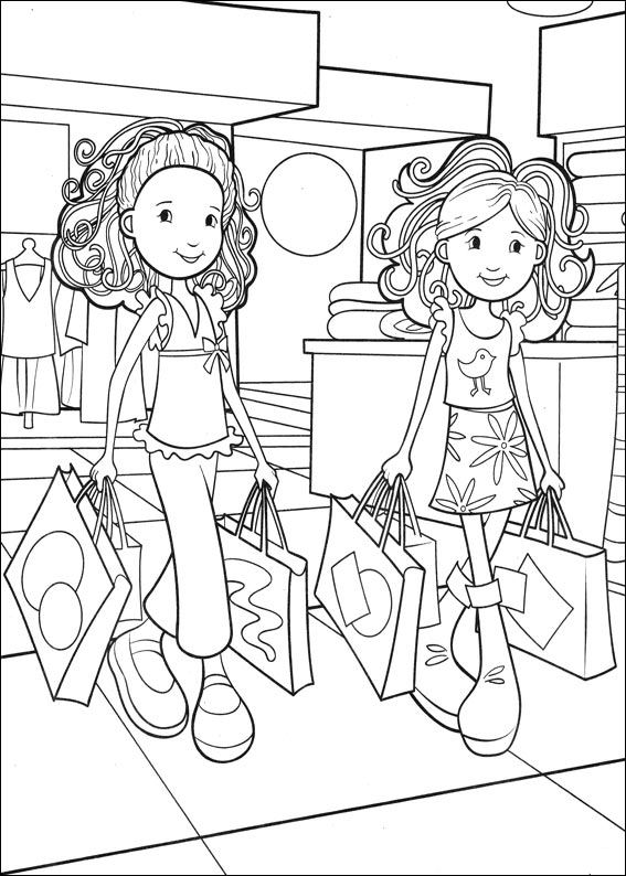 coloring pages shopping - photo#20