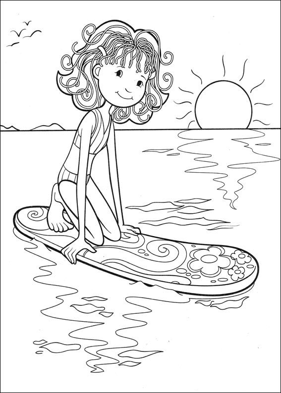 funny girl coloring pages - photo#19