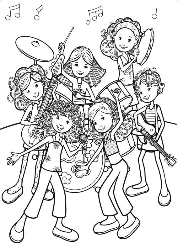 coloring pages of rock bands - photo#14