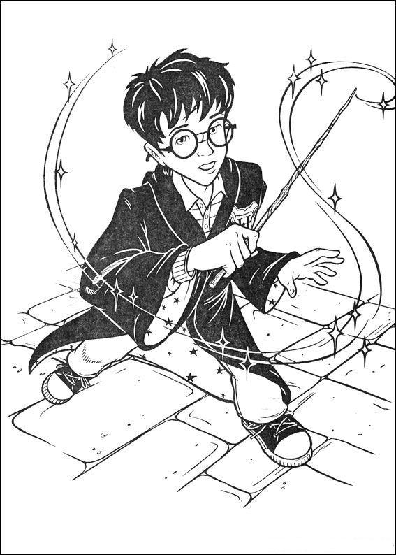 Kleurplaten En Zo Kleurplaat Van Harry Potter