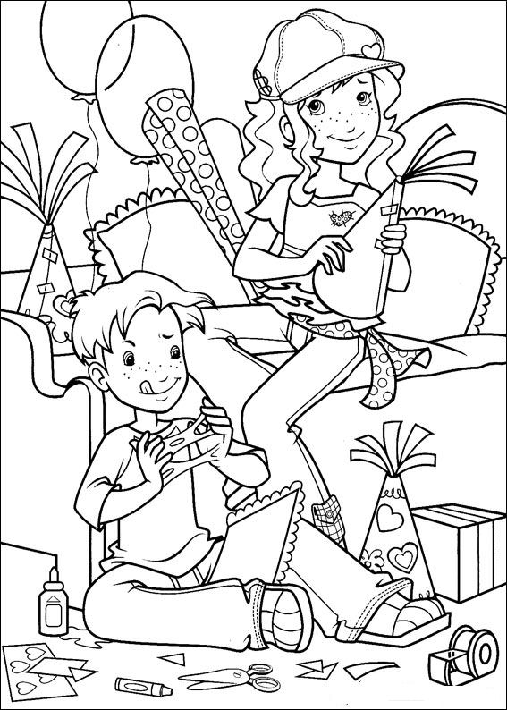 Kleurplaten en zo kleurplaten van holly hobbie for Holly hobbie coloring pages