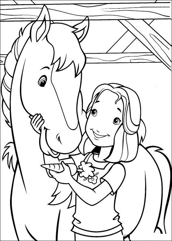 kleurplaten en zo 187 kleurplaat hollie en haar paard