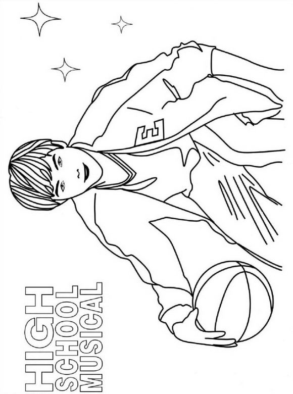 zac efron coloring pages print - photo #42