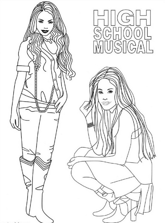 High school musicla printable coloring pages ~ kleurplaten en zo » Kleurplaten van high school musical