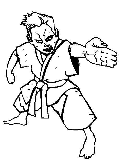 Kleurplaten En Zo Kleurplaten Van Karate