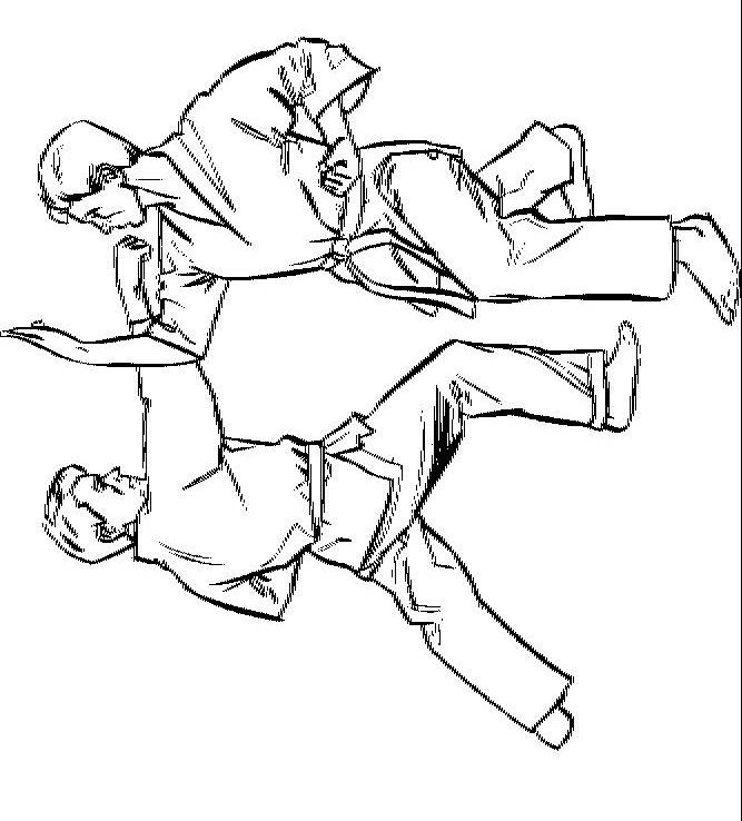 Full page printable christmas coloring pages - Kleurplaten En Zo 187 Kleurplaat Van Karate