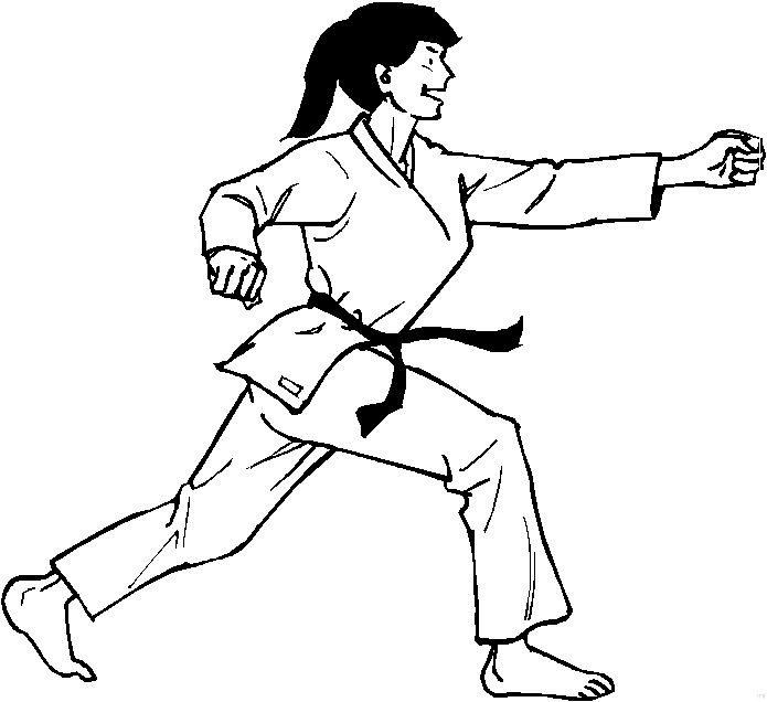karate coloring pages free - kleurplaten en zo kleurplaten van karate