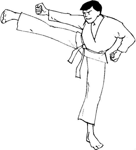 Free coloring pages karate - Kleurplaten En Zo 187 Kleurplaten Van Karate