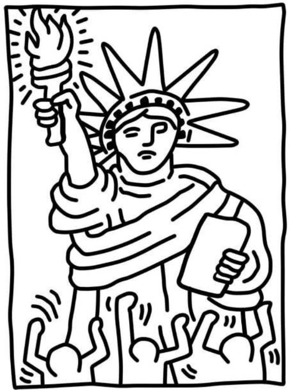 Print statue of liberty kleurplaat