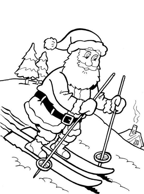 Kerst Kleurplaten Kerstman.Kleurplaten En Zo Kleurplaten Van Peuter Kerstliedjes
