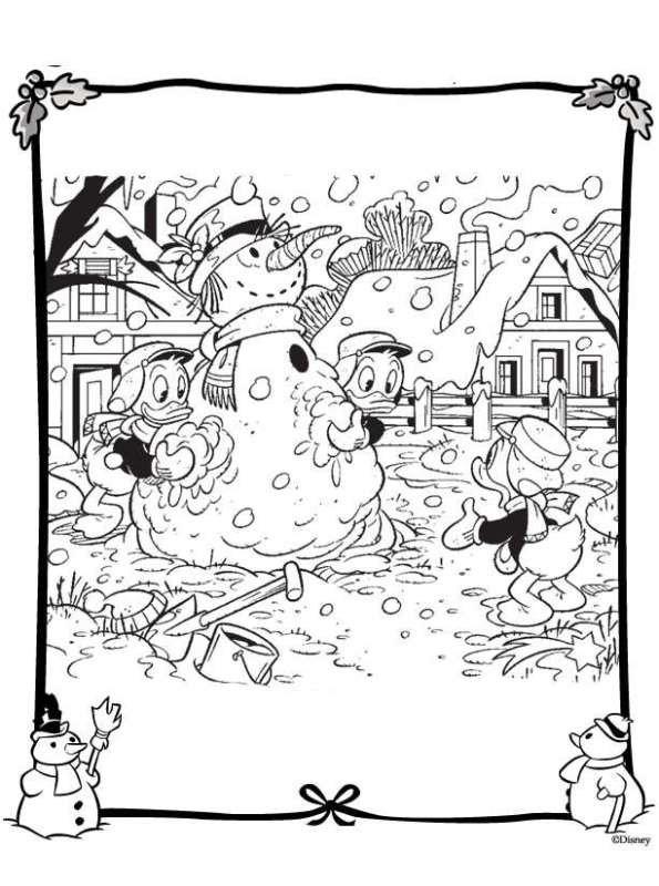 Kleurplaat Kerstmis Disney Archidev