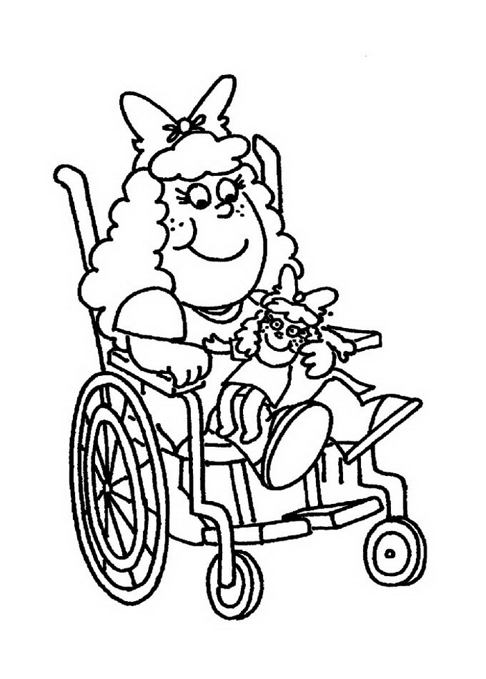 Coloring Pages of Kids with Disabilities
