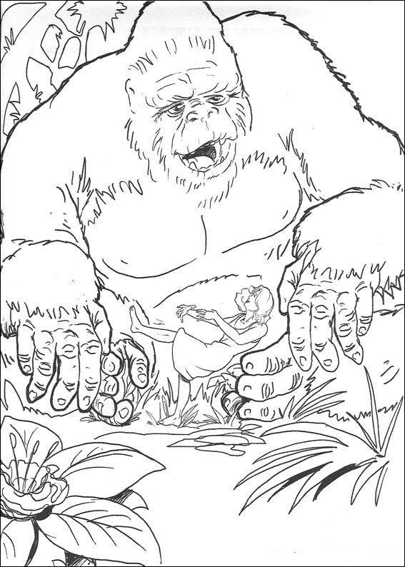 Kleurplaten En Zo 187 Kleurplaten Van King Kong King Kong 2017 Coloring Pages