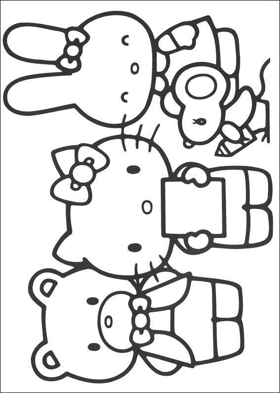 Kleurplaten En Zo C2 Bb Kleurplaten Van Hello Kitty