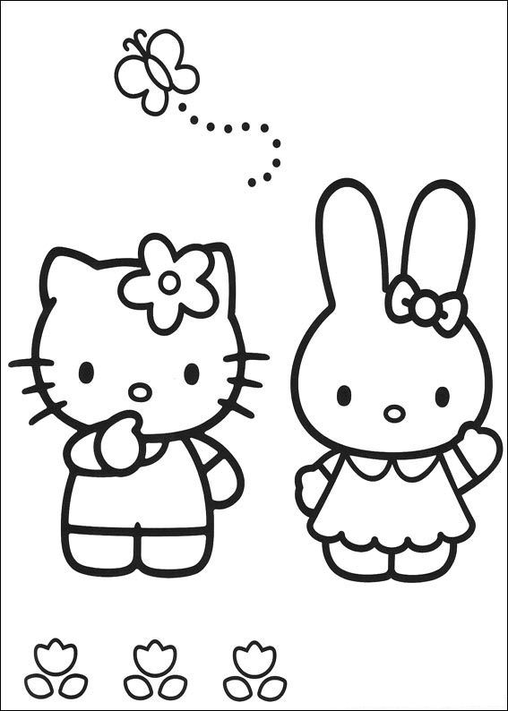 Print Hello Kitty kleurplaat