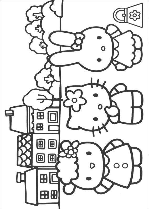 Kleurplaten Van Hello Kitty Verjaardag.Kleurplaten En Zo Kleurplaten Van Hello Kitty