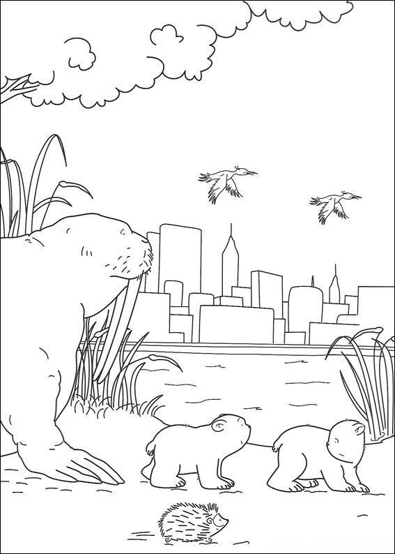 Kleurplaten En Zo Kleurplaat Van Kleine Ijsbeer In New York