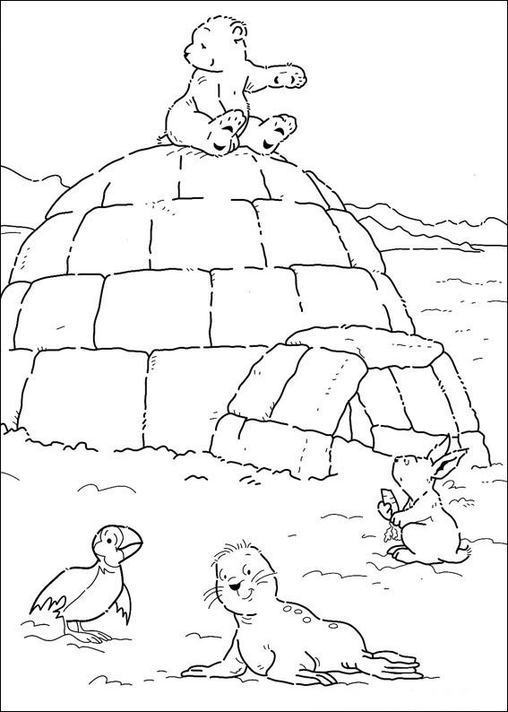 kleurplaten en zo kleurplaten van lars de kleine ijsbeer