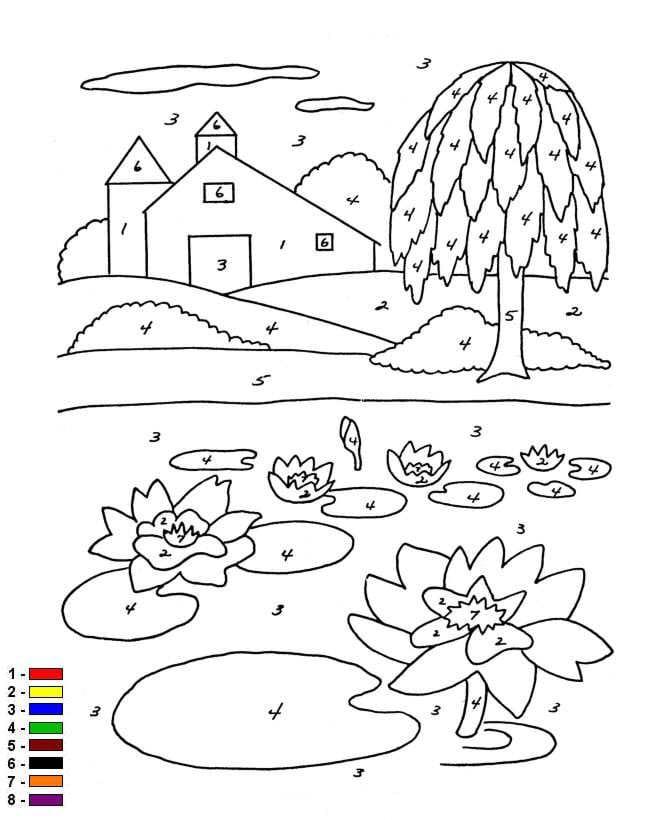 Kleurplaten En Zo 187 Kleurplaten Van Kleur Op Nummer Boerderij