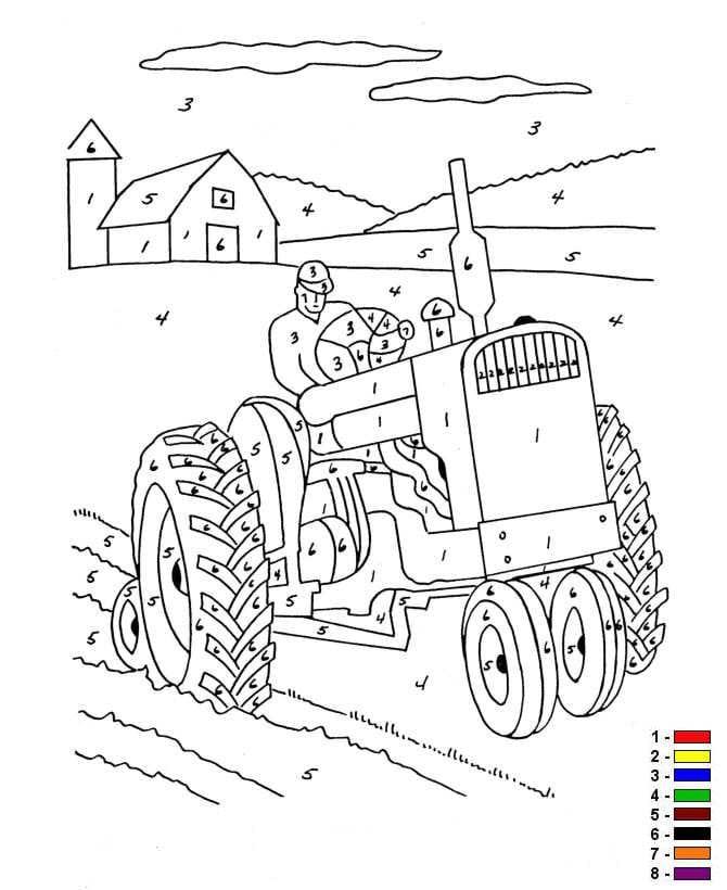 Betere kleurplaten en zo » Kleurplaat van Kleur op nummer Boerderij NN-71