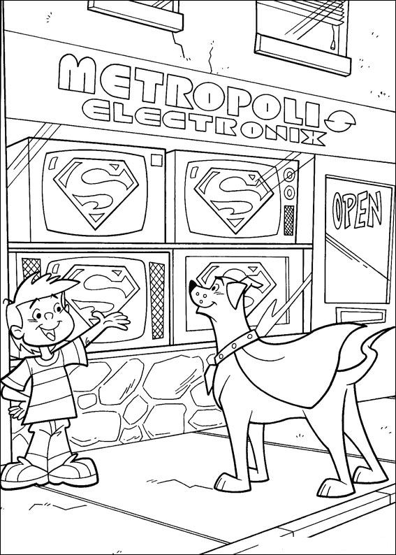 superdog coloring pages - photo#25