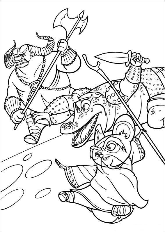 Kleurplaten en zo kleurplaten van kung fu panda 2 for Kung fu panda 2 coloring pages