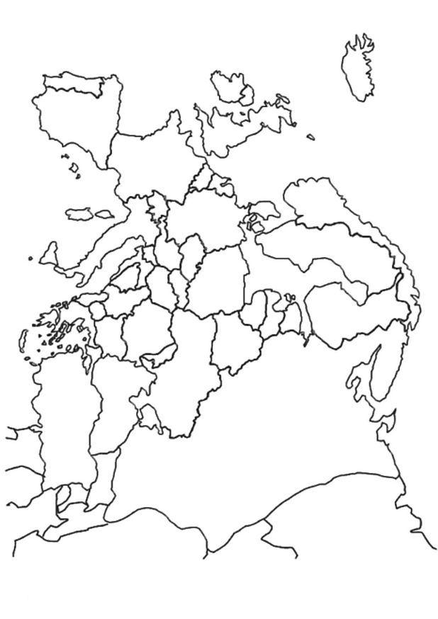 kleurplaten en zo 187 kleurplaat landkaart europa