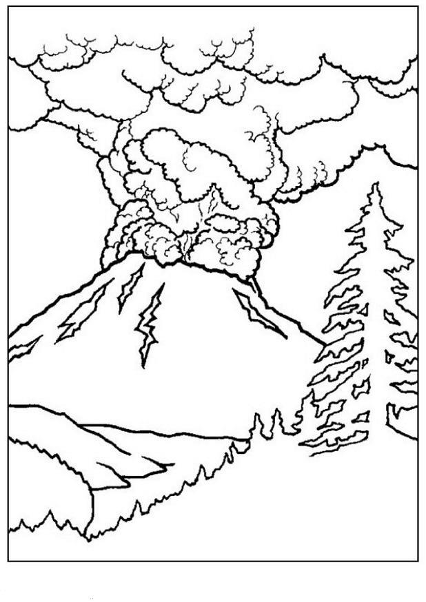 kleurplaten en zo 187 kleurplaat vulkaan