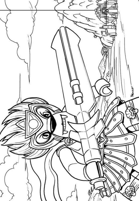 Lego Chima Eris Coloring Pages