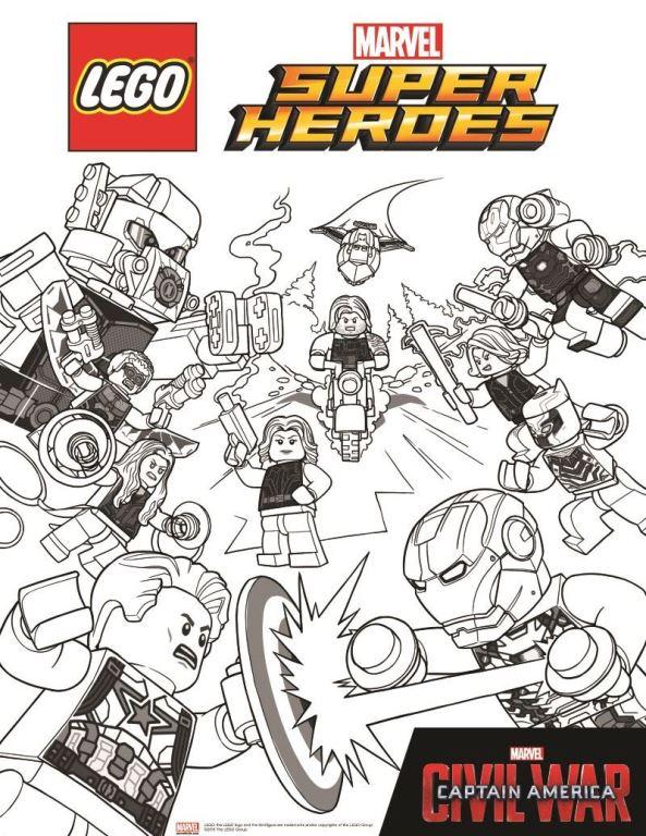 Kleurplaten Lego Heroes.Kleurplaten En Zo Kleurplaten Van Lego Marvel Avengers