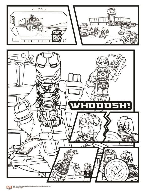 Kleurplaten Lego Marvel.Kleurplaten En Zo Kleurplaten Van Lego Marvel Avengers