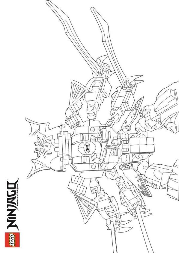 lego coloring pages ninjago nindroid - photo #16