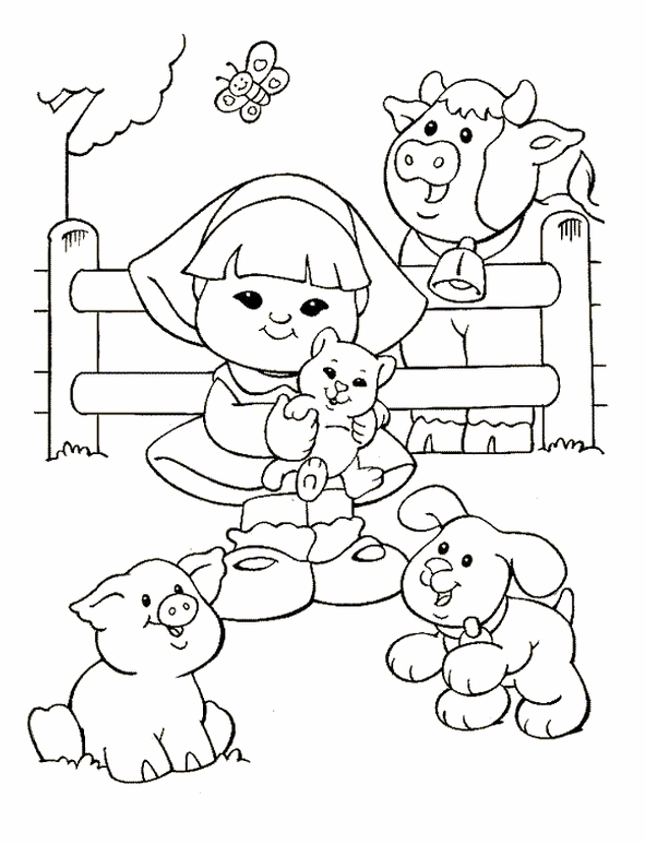 little people coloring pages kleurplaten en zo kleurplaten van little people