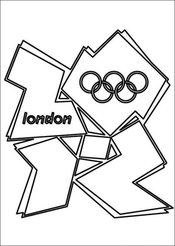 Print logo london 2012 kleurplaat