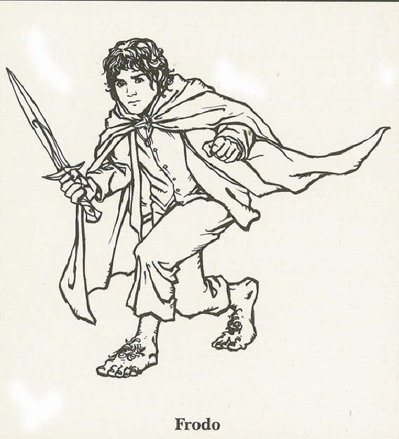 Print Lord of the Rings, Frodo kleurplaat