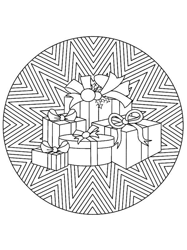 Kleurplaten Kerst Sterren.Kleurplaten En Zo Kleurplaten Van Mandala Kerstmis
