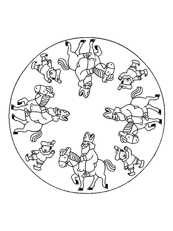 Sinterklaas Kleurplaten Mandalas Idee 235 N Over Kleurpagina